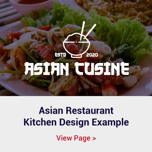 Asian Cusine Restaurant Kitchen Design