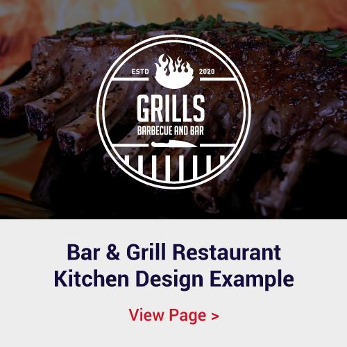 Bar n Grill Restaurant Kitchen Design