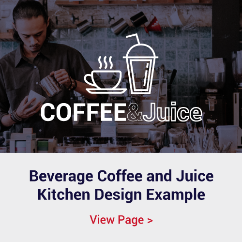 Coffee and Juice Bar Kitchen Servery Equipment