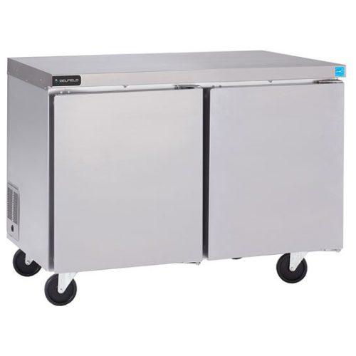 Delfield 48″ Two Door Undercounter/Worktable Freezer GUF48P-S
