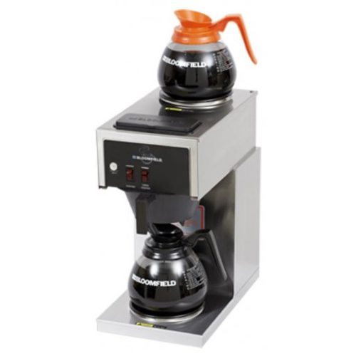 Bloomfield Koffee King Two Warmer In-Line Pour-Over, Lo-Profile Coffee Brewer 4B-8543-D2-120V