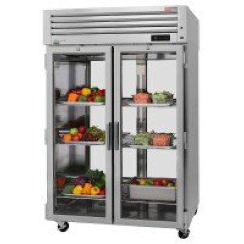 Turbo Air 4 Glass Full Doors Pass-Thru, Top Mount Refrigerator PRO-50R-G-PT-N
