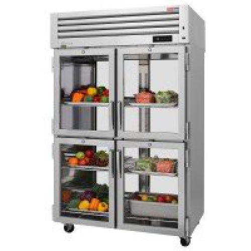 Turbo Air 8 Glass Half Doors Pass-Thru, Top Mount Refrigerator PRO-50-4R-G-PT-N