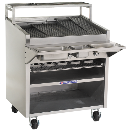 Bakers Pride Dante Series Cabinet-Style Floor Model Commercial Gas Charbroiler F-36R