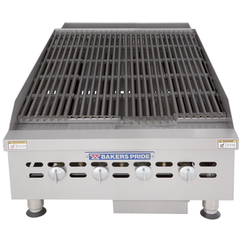 Bakers Pride Gas Countertop Charbroiler BPHCRB-2424i