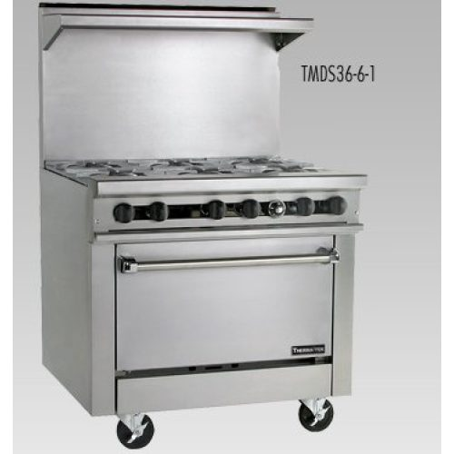 """Therma-Tek LPG Six Open Burners with 26"""" Oven TMD36-6-1L"""