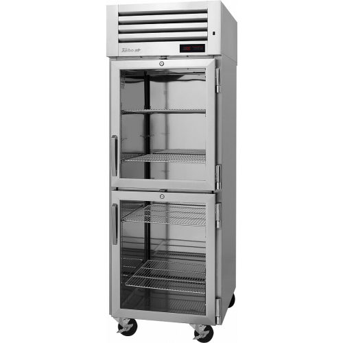 TurboAir 1 Glass Full Door Roll-In, Top Mount Heated Cabinet (115V) PRO-26H-G-RI(-L)