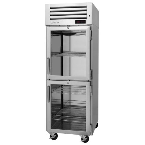 TurboAir 2 Glass Half-Doors Top Mount Heated Cabinet (208V) PRO-26-2H2-G(-L)