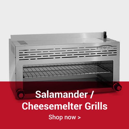 Salamander and cheesemelter grills